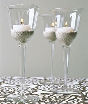 DIY svatební ozdobné svícny
