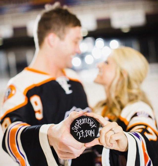 Svatba inspirovaná hokejem