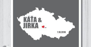 Svatební mapa aneb originální vzpomínka na den D